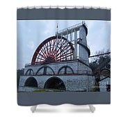 The Wheel Of Laxey, Isle Of Man Shower Curtain