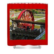 The Wheel Park, Laxey, Isle Of Man Shower Curtain