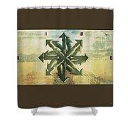The Wheel W Rise Logo Shower Curtain