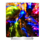 The Whirl Of Christmas Commerce Shower Curtain