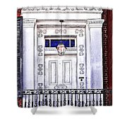 The White Balcony Shower Curtain