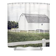 The White Barn Shower Curtain