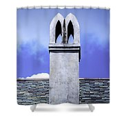 The White Chimney Shower Curtain
