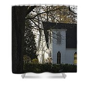 The White Church Shower Curtain