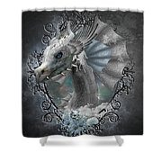 The White Dragon Shower Curtain