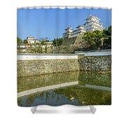 The White Heron Castle - Himeji Shower Curtain