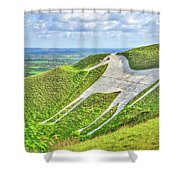 The White Horse. Shower Curtain