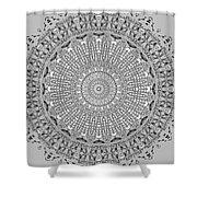 The White Mandala No. 4 Shower Curtain