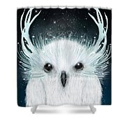 The White Owl Shower Curtain