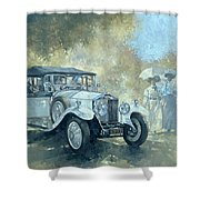 The White Tourer Shower Curtain