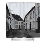The White Village - Digital Shower Curtain