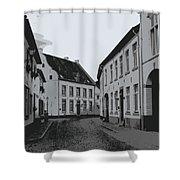 The White Village - Digital Shower Curtain