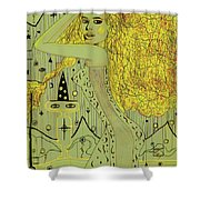 The White Witch Shower Curtain