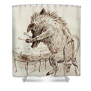 The Wild Boar Shower Curtain