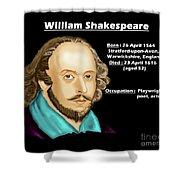 The William Shakespeare Shower Curtain