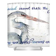 The Wind Cannot Erase Your Flight Shower Curtain