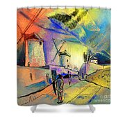 The Windmills Del Quixote 02 Shower Curtain