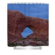The Window At Arches N.p. After Dark Shower Curtain