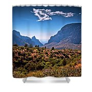 The Window In The Chisos Mountains Shower Curtain