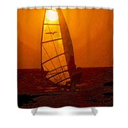 The Windsurfer Shower Curtain