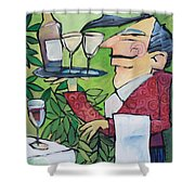 The Wine Steward Shower Curtain