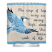 The Wings Of Hope Shower Curtain