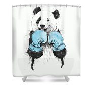 The Winner Shower Curtain by Balazs Solti