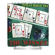 The Winner Shower Curtain by Debbie DeWitt