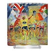 The Winner Of The Tour De France Shower Curtain