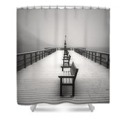 The Winter Pier Shower Curtain