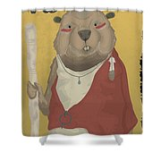 The Wise Beaver Shower Curtain