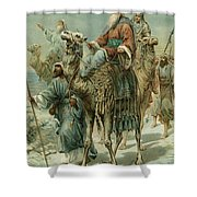 The Wise Men Seeking Jesus Shower Curtain
