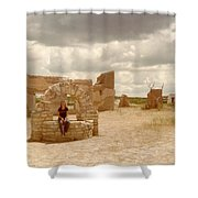 The Wishing Well Shower Curtain