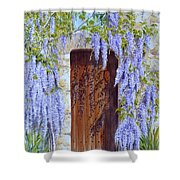 The Wisteria Gate Shower Curtain