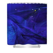 The Wizard Mid-incantation Shower Curtain