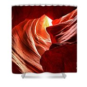 The Woman In The Canyon Shower Curtain