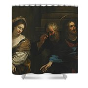 The Woman Taken In Adultery Shower Curtain