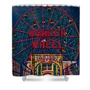 The Wonder Wheel At Luna Park Shower Curtain