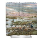 The Wondrous Feathered Things Of The Great Marsh Shower Curtain