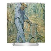 The Woodcutter After Millet Saint Remy De Provence September 1889 Vincent Van Gogh 1853  1890 Shower Curtain