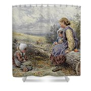 The Woodcutter's Children Shower Curtain