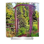 The Wooden Arch Shower Curtain