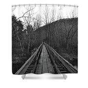 The Wooden Bridge Shower Curtain