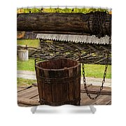 The Wooden Bucket Shower Curtain