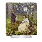 The Woodland Encounter  Shower Curtain