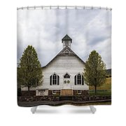 The Woodrow Union Church In Paw Paw West Virginia Shower Curtain