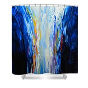 The Word Made Flesh, God Poured Out Shower Curtain