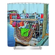 The Work Boat Shower Curtain