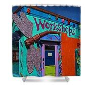 The Workshop-vertical Shower Curtain