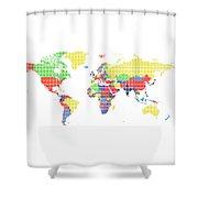 The World Shower Curtain